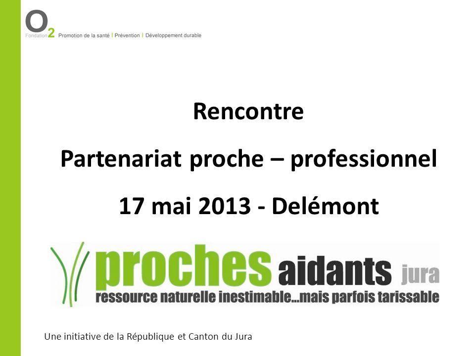 Une initiative de la République et Canton du Jura Rencontre Partenariat proche – professionnel 17 mai 2013 - Delémont