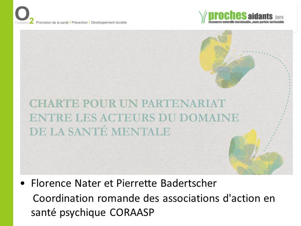 Florence Nater et Pierrette Badertscher Coordination romande des associations d'action en santé psychique CORAASP
