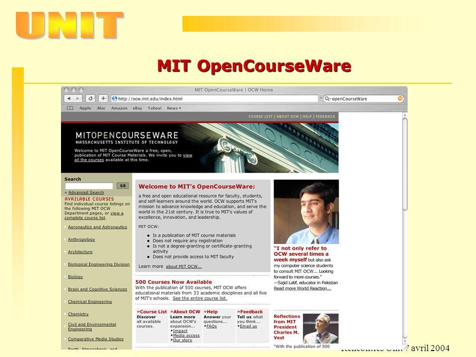 Rencontres Unit 7 avril 2004 MIT OpenCourseWare