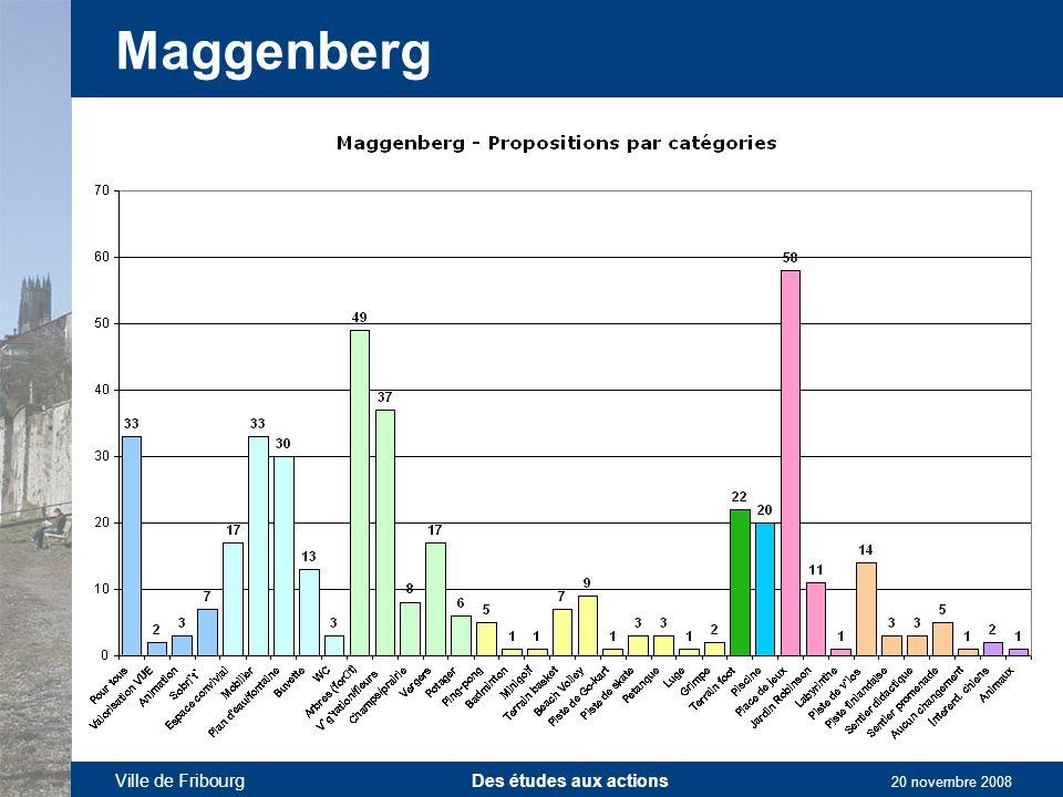 Ville de Fribourg Des études aux actions 20 novembre 2008 Maggenberg