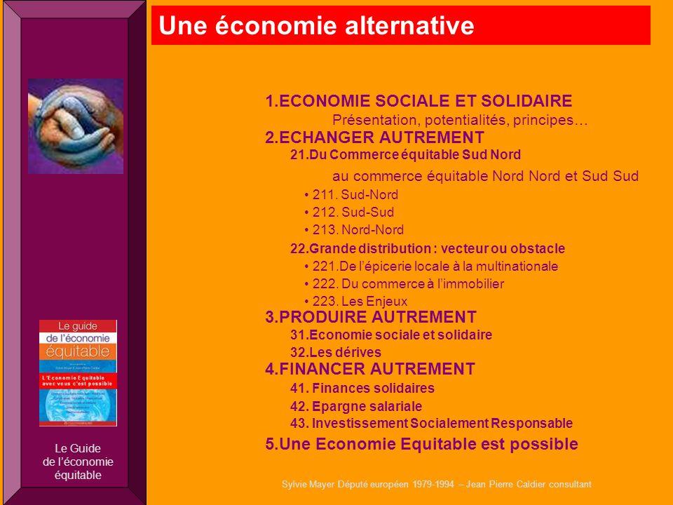 1.ECONOMIE SOCIALE ET SOLIDAIRE Présentation, potentialités, principes… 2.ECHANGER AUTREMENT 21.Du Commerce équitable Sud Nord au commerce équitable N