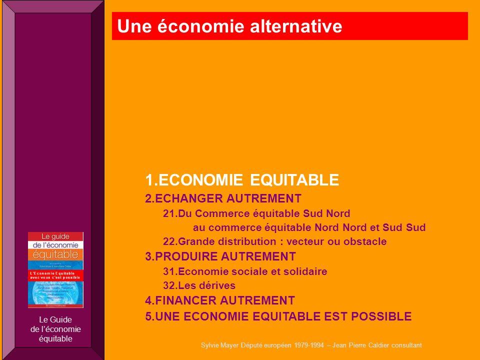 Sylvie Mayer Député européen 1979-1994 – Jean Pierre Caldier consultant 1.ECONOMIE EQUITABLE 2.ECHANGER AUTREMENT 21.Du Commerce équitable Sud Nord au