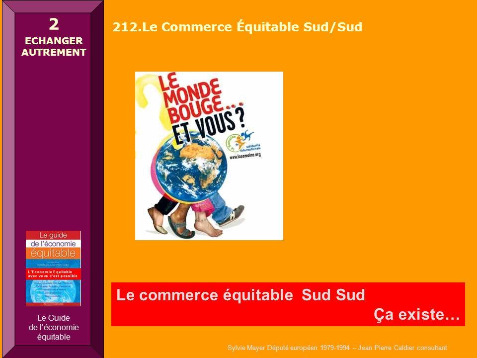Sylvie Mayer Député européen 1979-1994 – Jean Pierre Caldier consultant Le commerce équitable Sud Sud Ça existe… 2 ECHANGER AUTREMENT 212.Le Commerce
