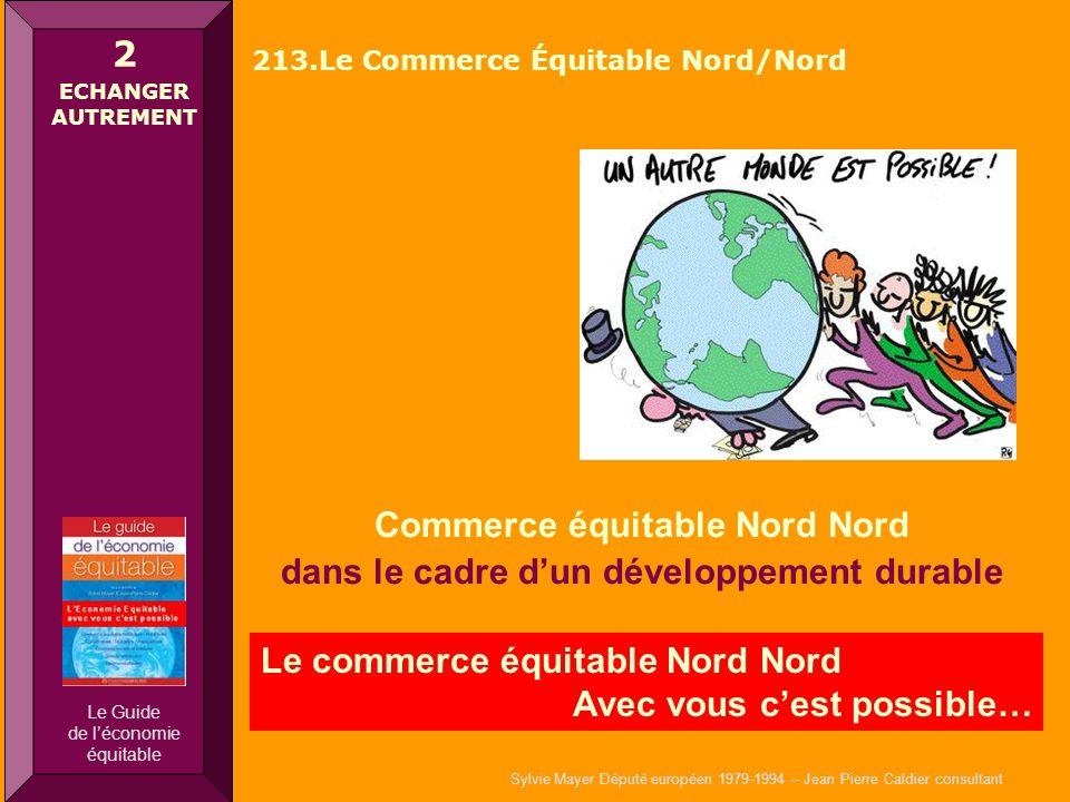 Sylvie Mayer Député européen 1979-1994 – Jean Pierre Caldier consultant Commerce équitable Nord Nord dans le cadre dun développement durable Le commer