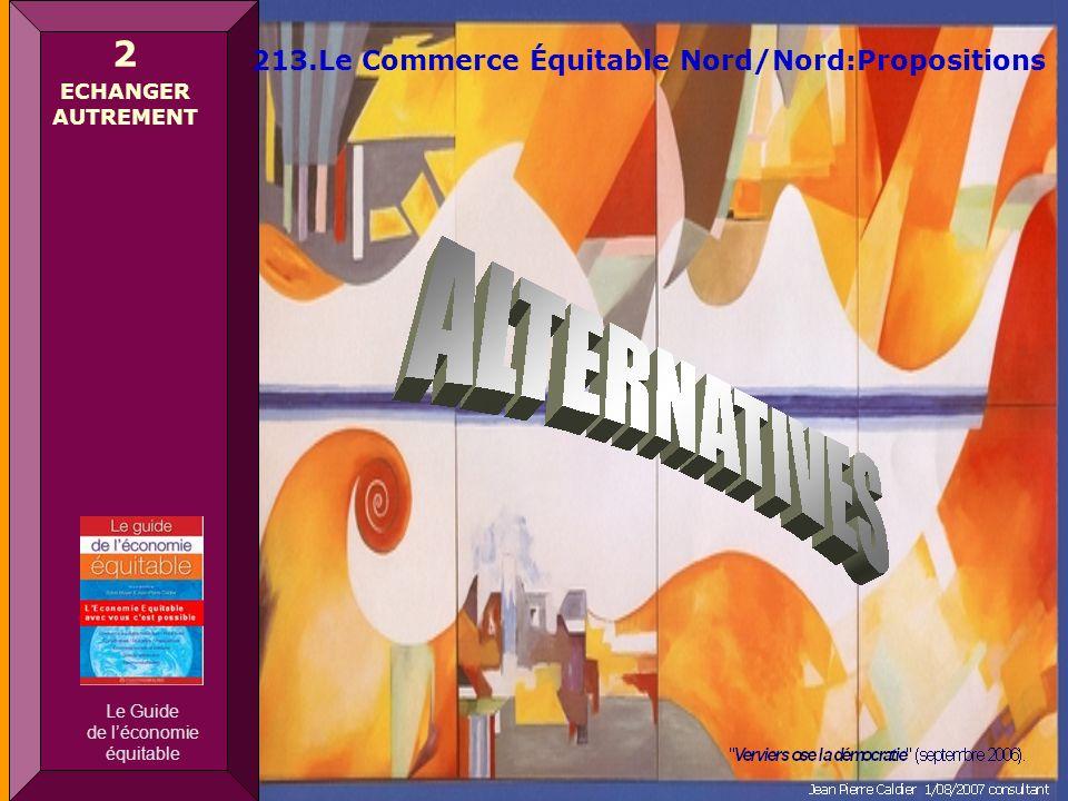 Sylvie Mayer Député européen 1979-1994 – Jean Pierre Caldier consultant 2 ECHANGER AUTREMENT 213.Le Commerce Équitable Nord/Nord:Propositions Le Guide de léconomie équitable
