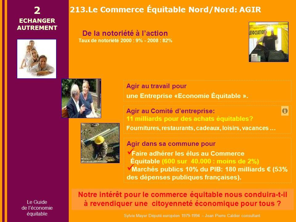 Sylvie Mayer Député européen 1979-1994 – Jean Pierre Caldier consultant Agir au travail pour une Entreprise «Economie Équitable ».