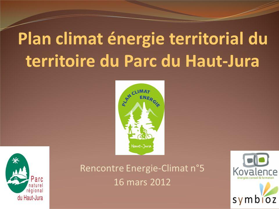 Rencontre Energie-Climat n°5 16 mars 2012 1 Plan climat énergie territorial du territoire du Parc du Haut-Jura
