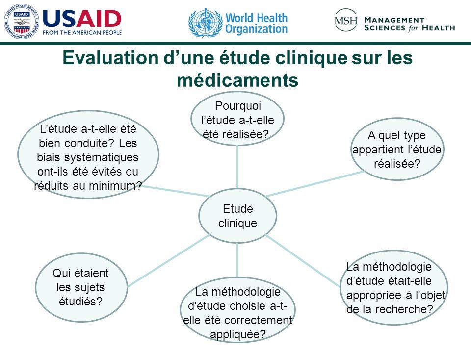 Evaluation de la qualité des preuves : quels sont les éléments dun bon essai clinique .