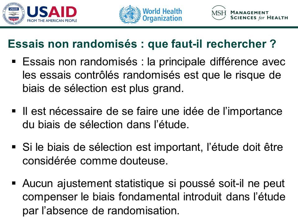Qualité des essais contrôlés randomisés : que faut-il rechercher ? (4) Inclusion de tous les patients dans lanalyse statistique Un essai risquera moin