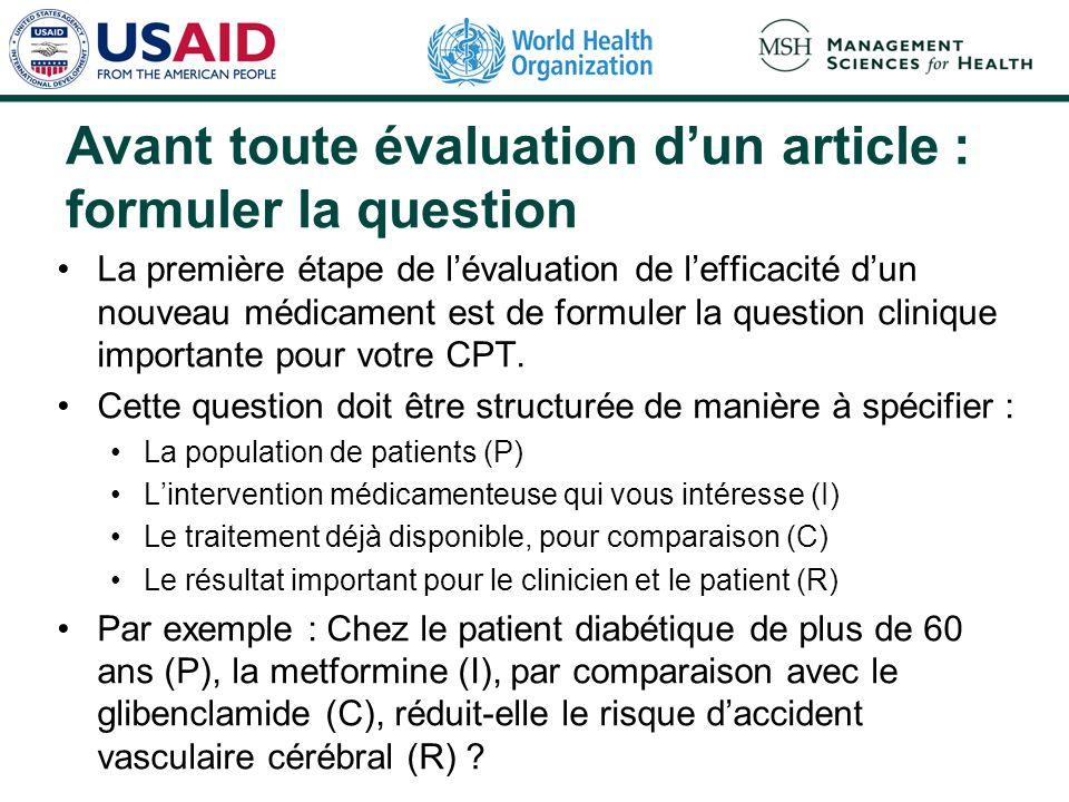 Introduction Responsabilités du CPT en matière de sélection des médicaments : Evaluer et recommander les médicaments appropriés pour la liste du formu
