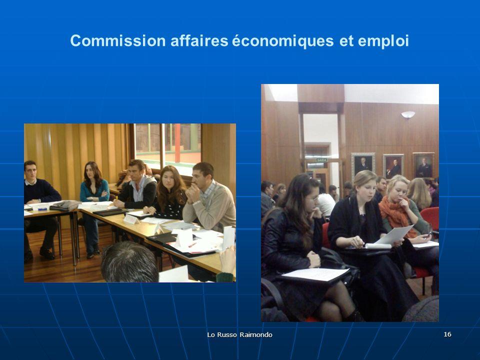 Lo Russo Raimondo 16 Commission affaires économiques et emploi