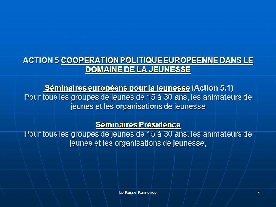 Lo Russo Raimondo 18 Activité de diffusion : Publication du document sur le site : wwww wwww wwww....