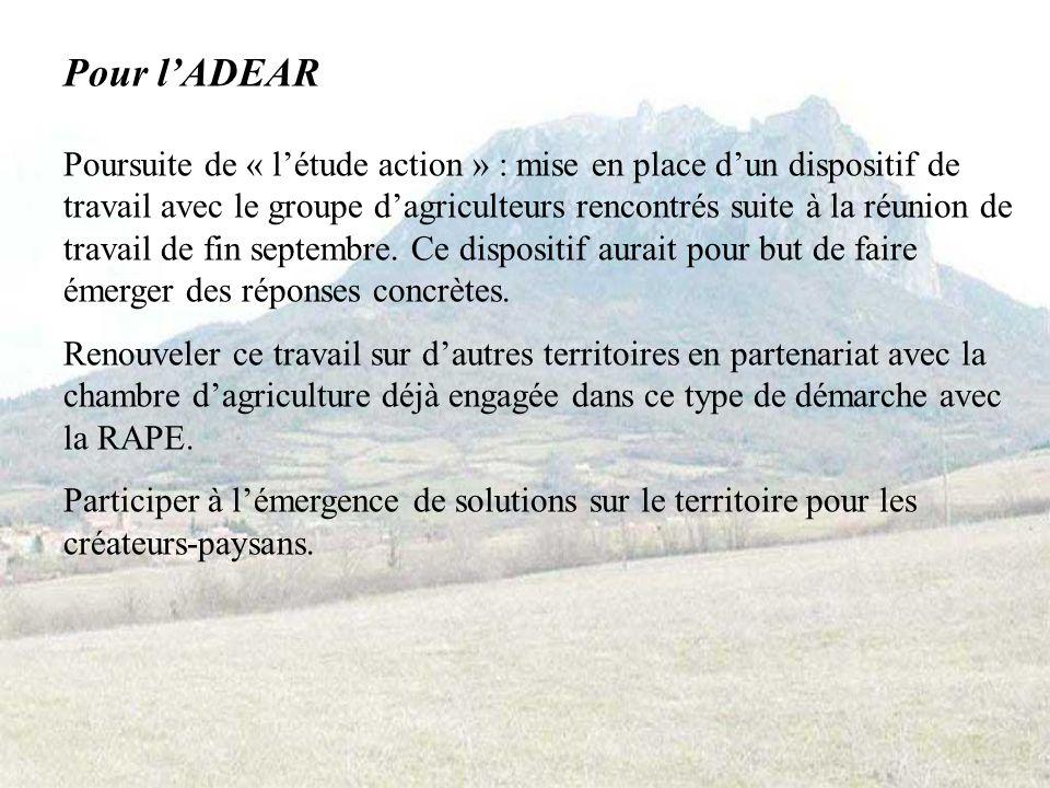 Pour Accueil Paysan Edition dun document de synthèse et de communication.