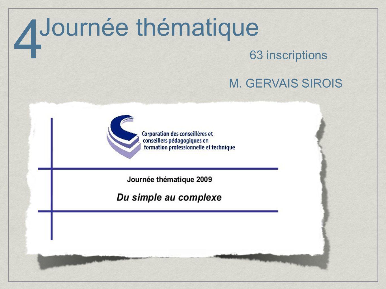 Journée thématique M. GERVAIS SIROIS 63 inscriptions 4