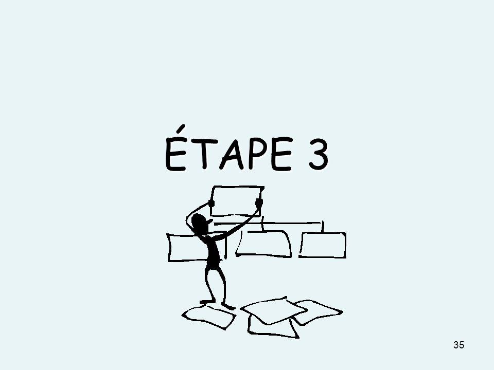 ÉTAPE 3 35