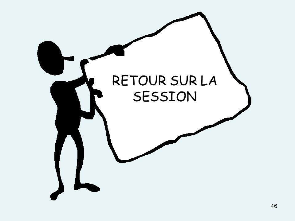 46 RETOUR SUR LA SESSION