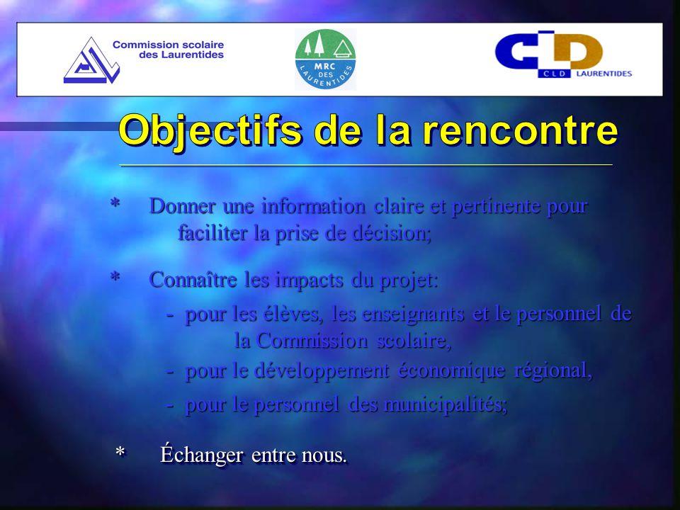(Suite) * Été 2000- La direction de lautoroute de linformation considère le projet des Laurentides comme « projet modèle » - Implication du ministère des Régions
