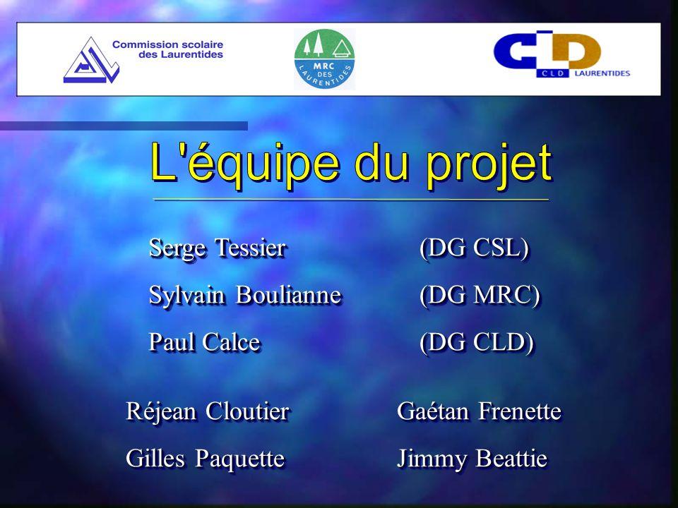 Serge Tessier (DG CSL) Sylvain Boulianne (DG MRC) Paul Calce (DG CLD) Serge Tessier (DG CSL) Sylvain Boulianne (DG MRC) Paul Calce (DG CLD) Réjean CloutierGaétan Frenette Gilles PaquetteJimmy Beattie Réjean CloutierGaétan Frenette Gilles PaquetteJimmy Beattie