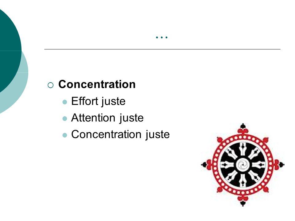 … Concentration Effort juste Attention juste Concentration juste