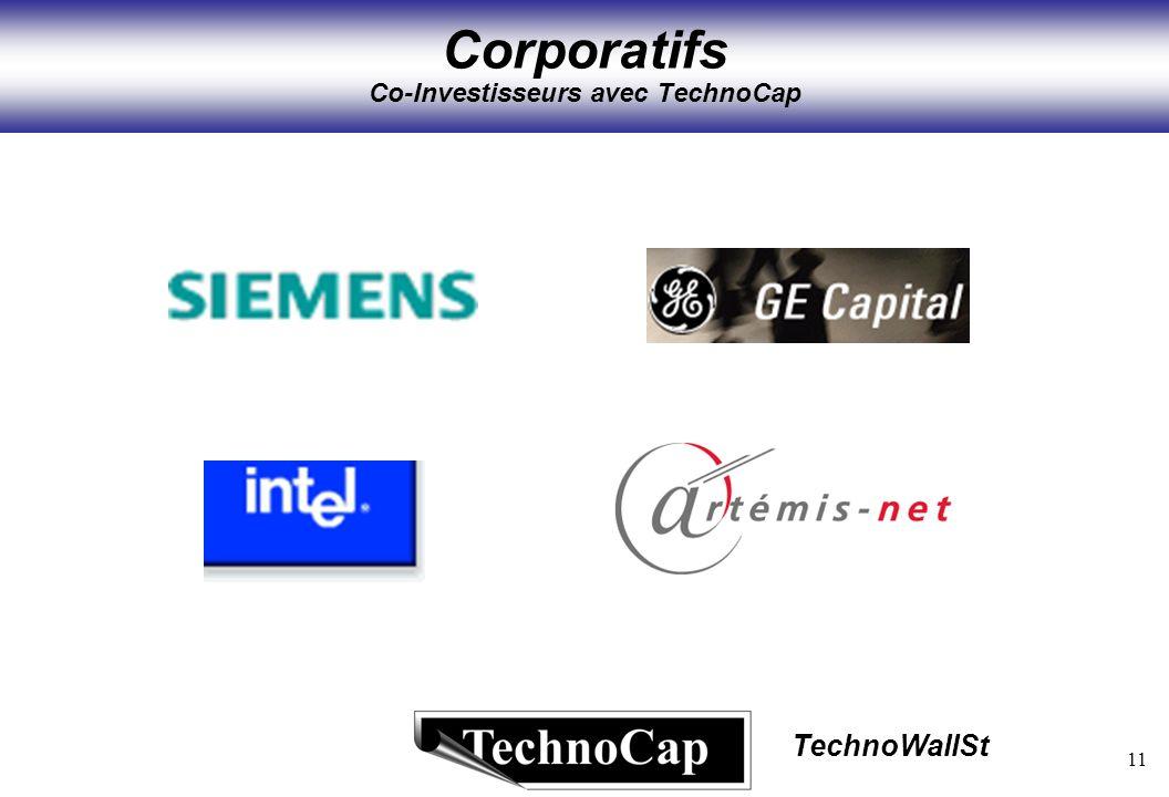 11 TechnoWallSt Corporatifs Co-Investisseurs avec TechnoCap