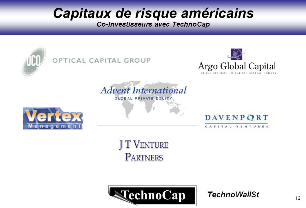 12 TechnoWallSt Capitaux de risque américains Co-Investisseurs avec TechnoCap