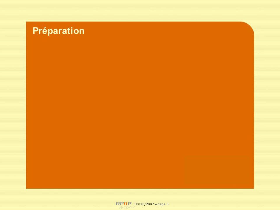 APOP3 Préparation 30/10/2007 – page 3
