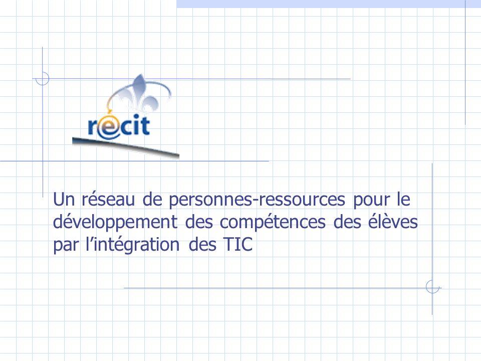 Un réseau de personnes-ressources pour le développement des compétences des élèves par lintégration des TIC