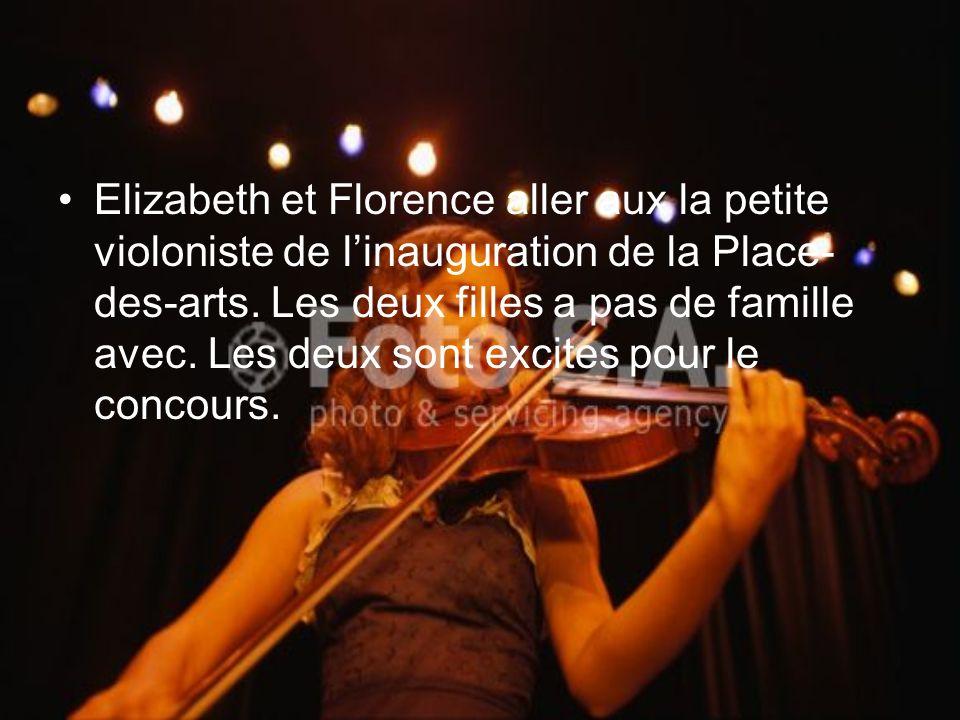 Elizabeth et Florence aller aux la petite violoniste de linauguration de la Place- des-arts. Les deux filles a pas de famille avec. Les deux sont exci
