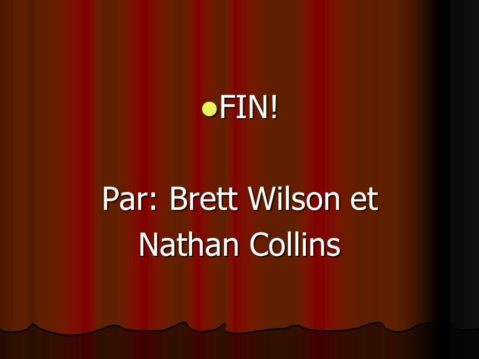 FIN! FIN! Par: Brett Wilson et Nathan Collins