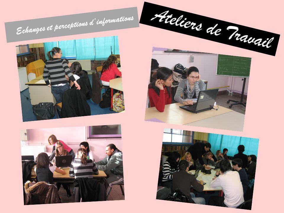 Ateliers de Travail Echanges et perceptions dinformations