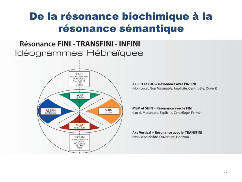 De la résonance biochimique à la résonance sémantique 19