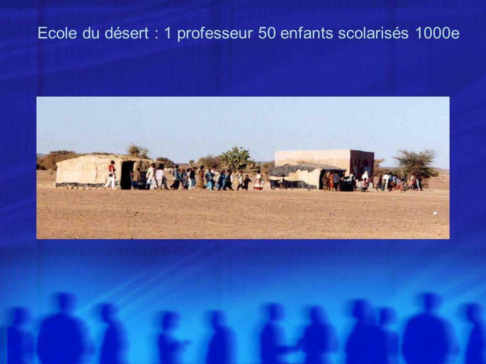 Ecole du désert : 1 professeur 50 enfants scolarisés 1000e