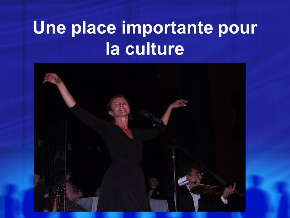 Une place importante pour la culture