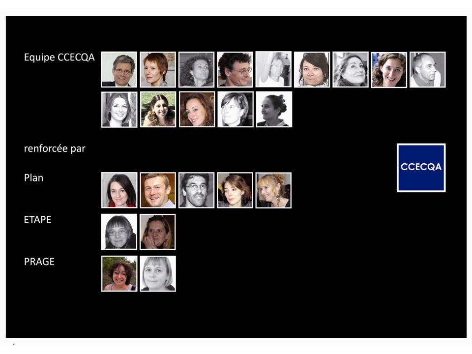 Matinée des correspondants CCECQA – 8 mars 2012 2 Léquipe du CCECQA
