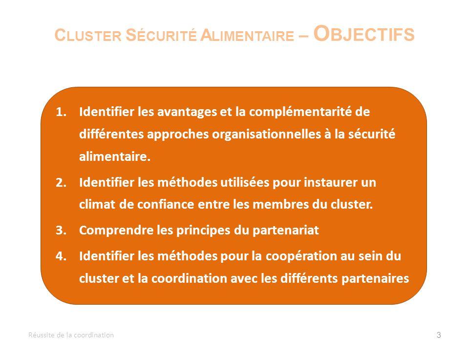 34 R ÉUSSITE DE LA COORDINATION P ERTINENCE Réussite de la coordination Pourquoi ce sujet est-il abordé .
