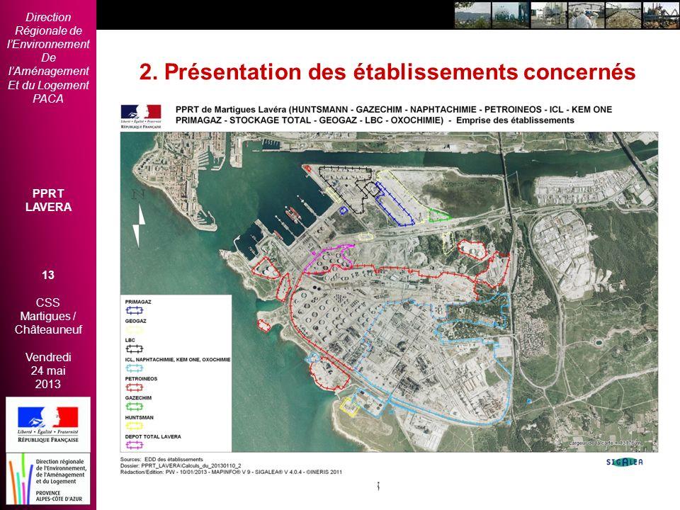 Direction Régionale de lEnvironnement De lAménagement Et du Logement PACA PPRT LAVERA 13 CSS Martigues / Châteauneuf Vendredi 24 mai 2013 2èmes Rencon
