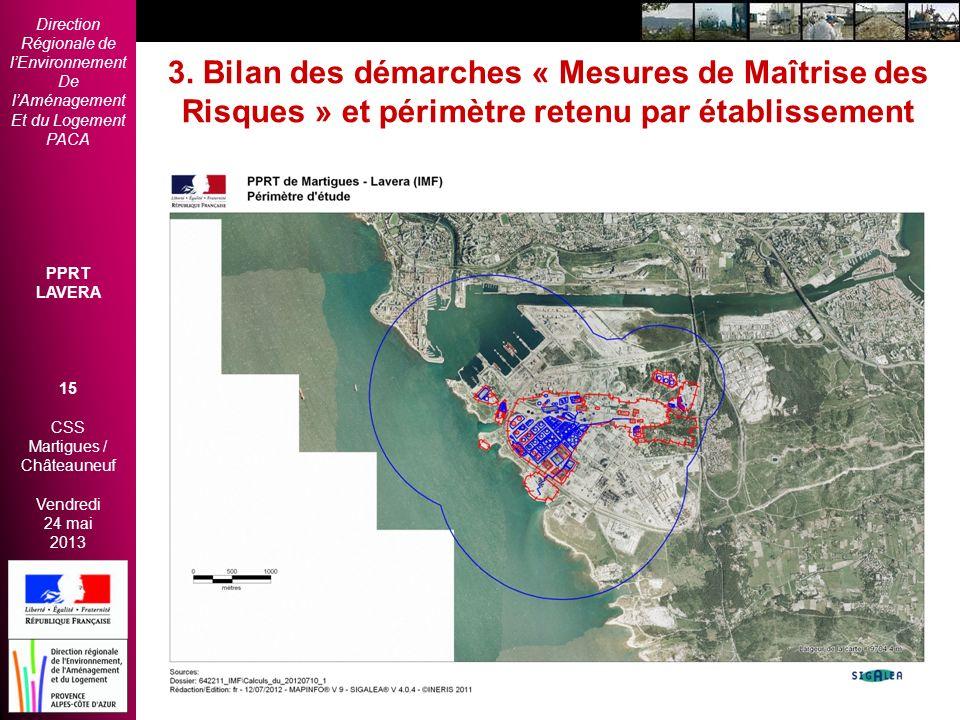 Direction Régionale de lEnvironnement De lAménagement Et du Logement PACA PPRT LAVERA 15 CSS Martigues / Châteauneuf Vendredi 24 mai 2013 2èmes Rencon
