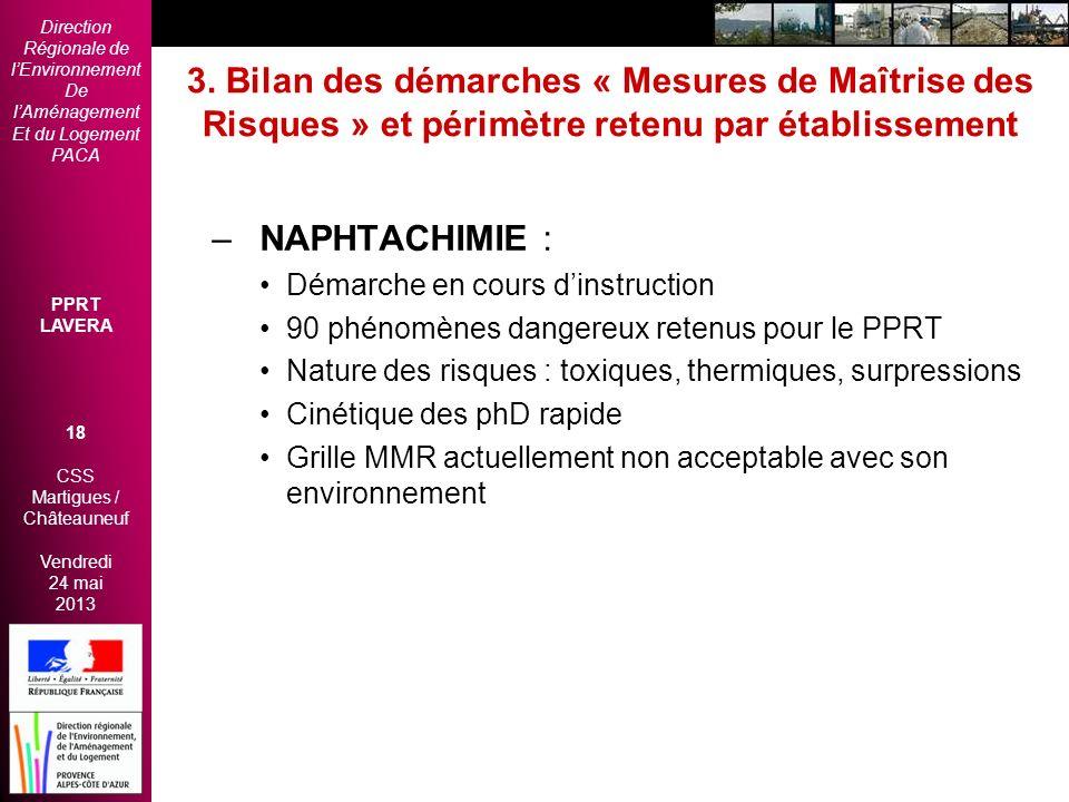 Direction Régionale de lEnvironnement De lAménagement Et du Logement PACA PPRT LAVERA 18 CSS Martigues / Châteauneuf Vendredi 24 mai 2013 2èmes Rencon
