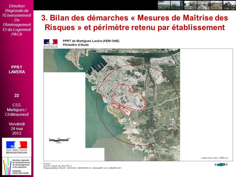 Direction Régionale de lEnvironnement De lAménagement Et du Logement PACA PPRT LAVERA 22 CSS Martigues / Châteauneuf Vendredi 24 mai 2013 2èmes Rencon