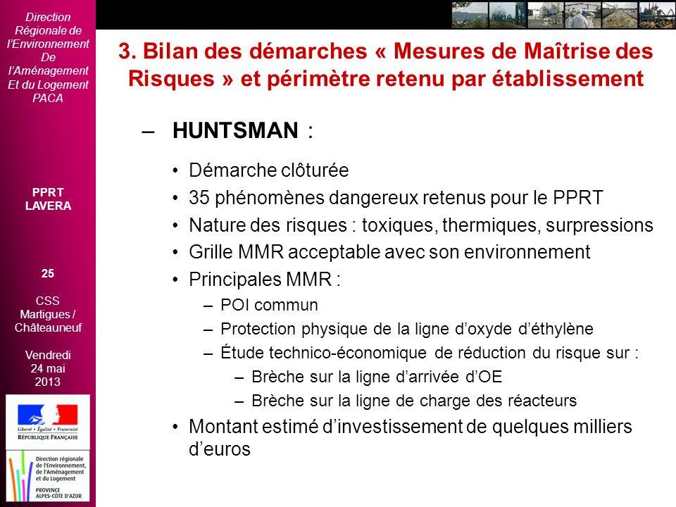 Direction Régionale de lEnvironnement De lAménagement Et du Logement PACA PPRT LAVERA 25 CSS Martigues / Châteauneuf Vendredi 24 mai 2013 2èmes Rencon