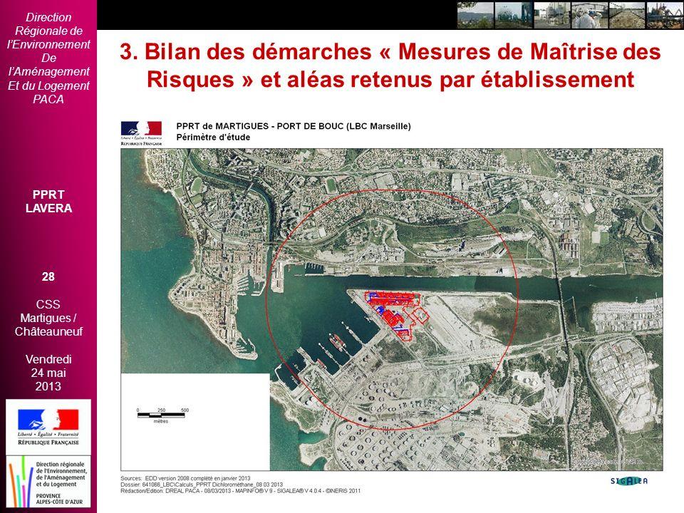 Direction Régionale de lEnvironnement De lAménagement Et du Logement PACA PPRT LAVERA 28 CSS Martigues / Châteauneuf Vendredi 24 mai 2013 2èmes Rencon