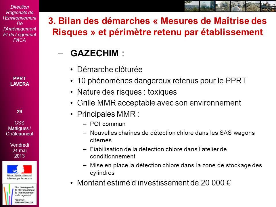 Direction Régionale de lEnvironnement De lAménagement Et du Logement PACA PPRT LAVERA 29 CSS Martigues / Châteauneuf Vendredi 24 mai 2013 2èmes Rencon