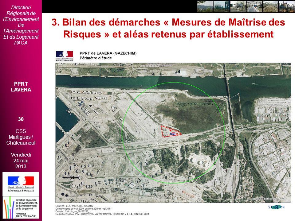 Direction Régionale de lEnvironnement De lAménagement Et du Logement PACA PPRT LAVERA 30 CSS Martigues / Châteauneuf Vendredi 24 mai 2013 2èmes Rencon