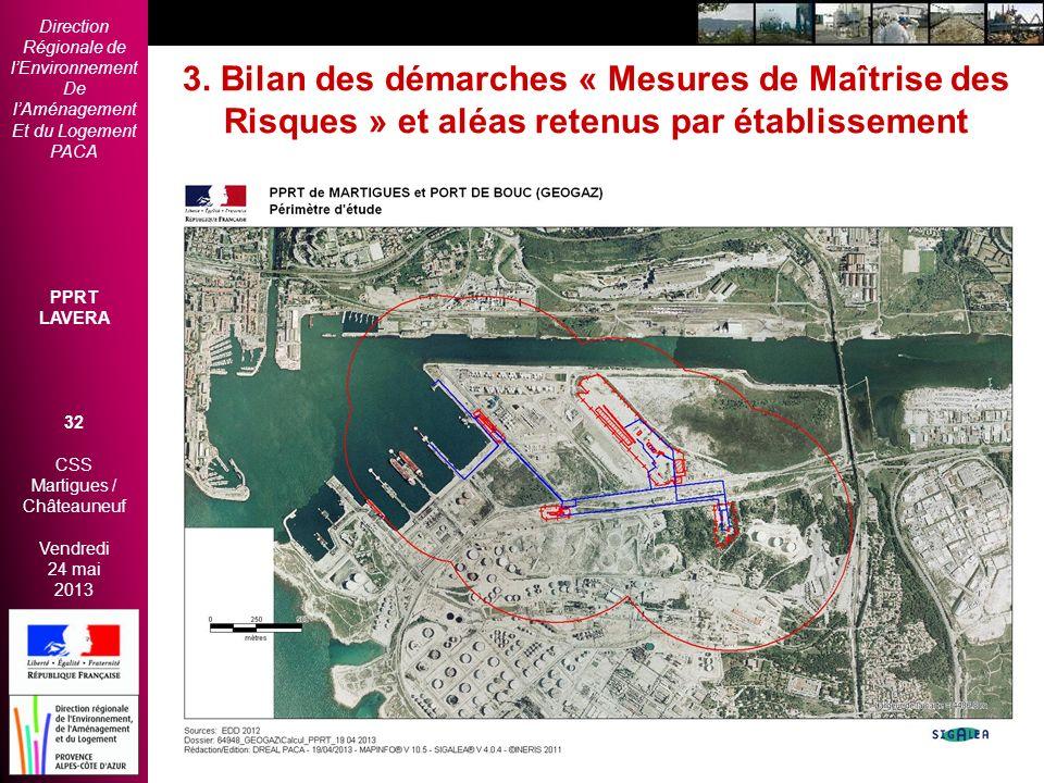 Direction Régionale de lEnvironnement De lAménagement Et du Logement PACA PPRT LAVERA 32 CSS Martigues / Châteauneuf Vendredi 24 mai 2013 2èmes Rencon