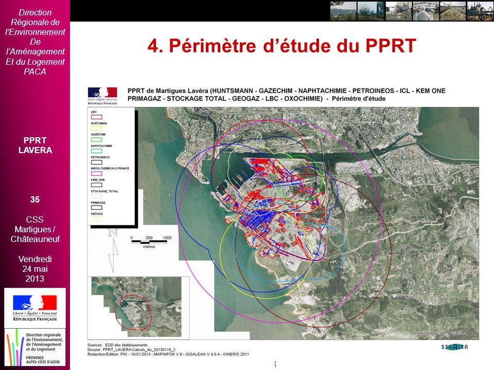 Direction Régionale de lEnvironnement De lAménagement Et du Logement PACA PPRT LAVERA 35 CSS Martigues / Châteauneuf Vendredi 24 mai 2013 2èmes Rencon