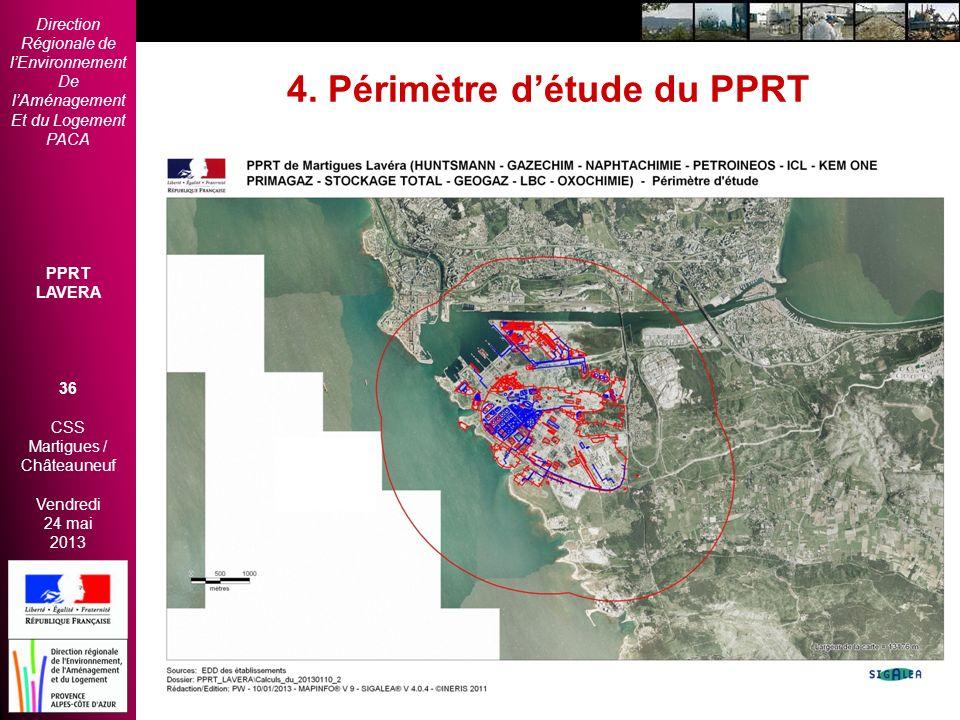 Direction Régionale de lEnvironnement De lAménagement Et du Logement PACA PPRT LAVERA 36 CSS Martigues / Châteauneuf Vendredi 24 mai 2013 2èmes Rencon