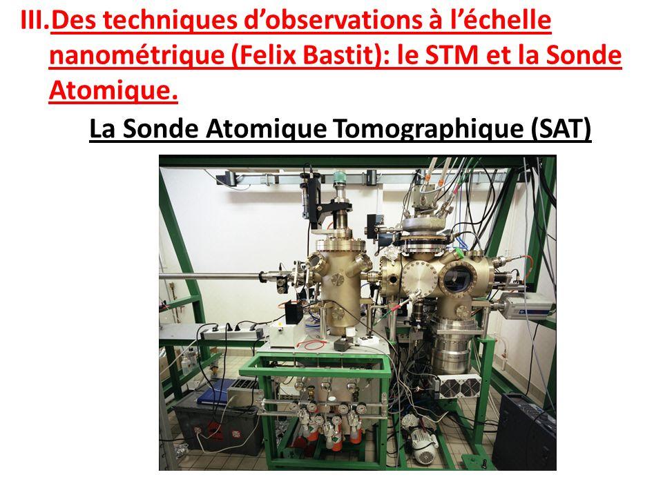 La Sonde Atomique Tomographique (SAT) III.Des techniques dobservations à léchelle nanométrique (Felix Bastit): le STM et la Sonde Atomique.