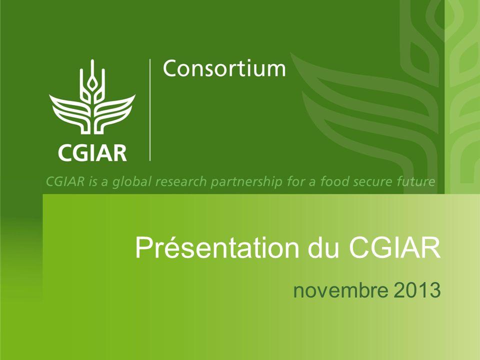 Présentation du CGIAR novembre 2013