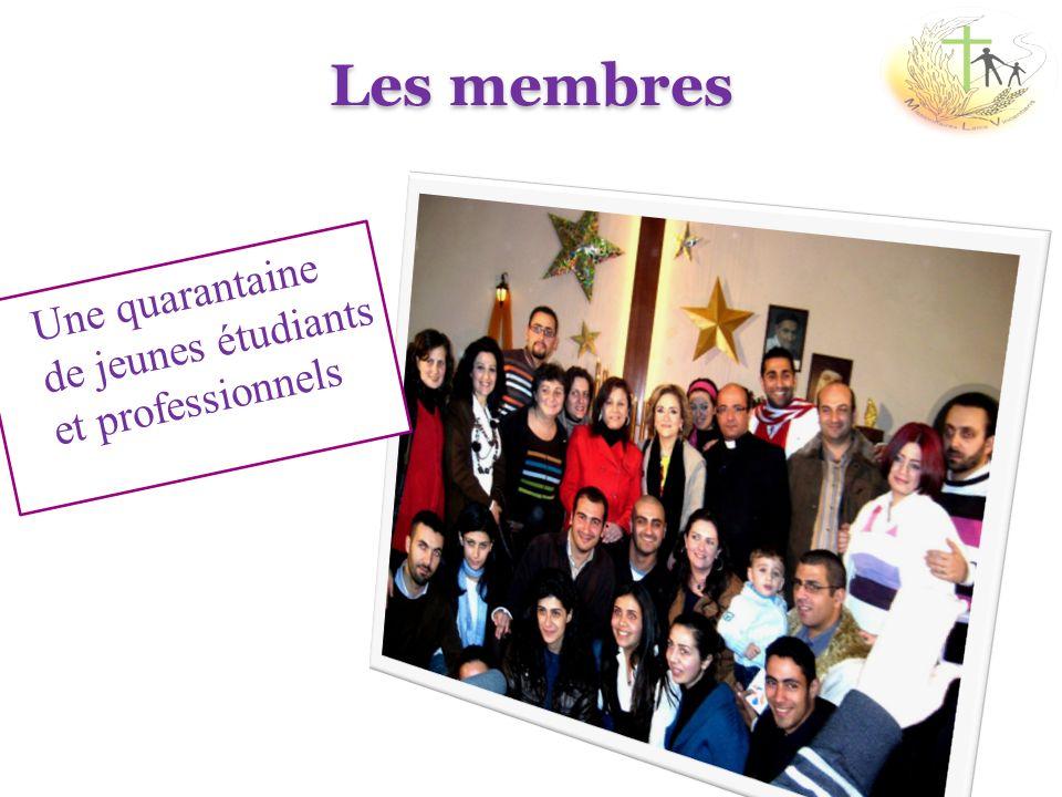 Les membres Une quarantaine de jeunes étudiants et professionnels