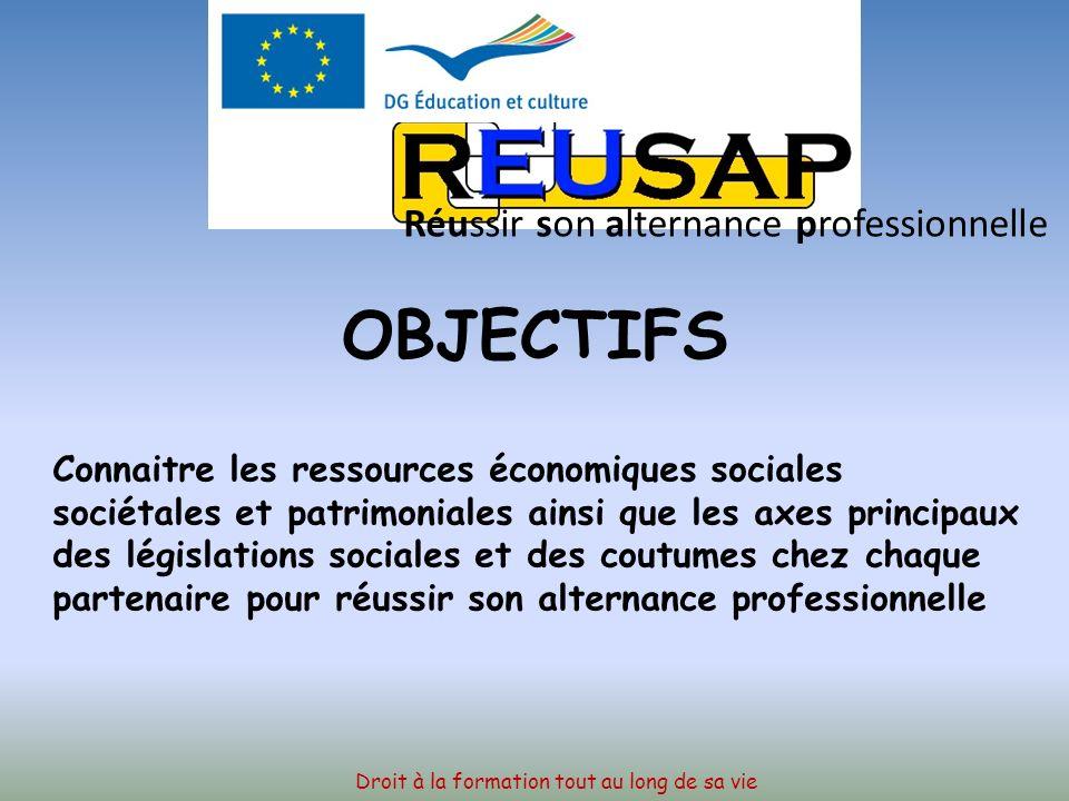 Le projet Réussir son alternance professionnelle en Europe Droit à la formation tout au long de sa vie Réussir son alternance professionnelle